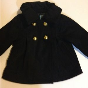 Old navy black wool coat 12 to 18 months